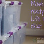 Move Out Ready; Life in a Clear Bin!