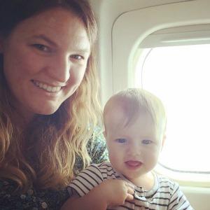 My daughter's first flight!