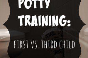Potty Training: First vs. Third Child