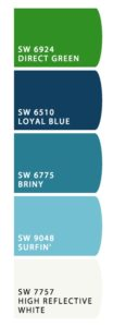 Here are the colors I chose for baby # 2's nursery. Very calming, don't you think?