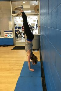 Only on special days do we do handstands!
