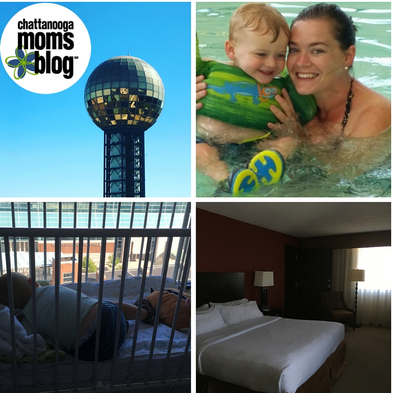 Holiday Inn World's Fair Park has great views, comfy beds for everyone, and a great indoor pool to escape the heat!