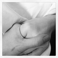 Holding her hand through radiation treatments...