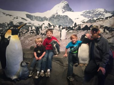 A great gift from last year (a membership to the aquarium) led to this fun day with the whole family!