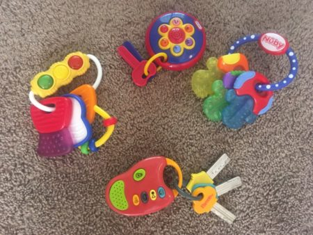 Example. Four sets of toy keys. And this was just what I found without much effort in the toy bucket in the living room.