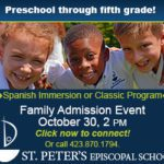 St. Peter's Episcopal School Family Admission Event October 30th