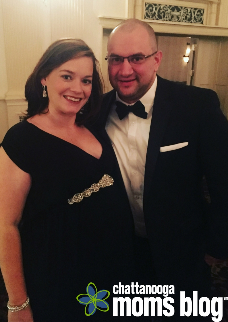 The hubs and I, neither of which looking like death on a cracker.