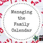 Managing the Family Calendar
