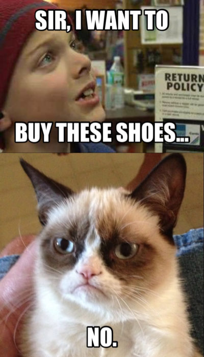 christmas shoes grumpy cat