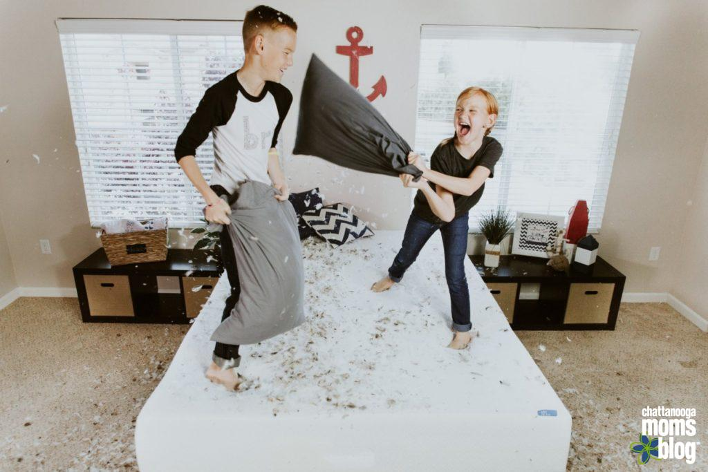 Photo by Allen Taylor on Unsplash – kids jumping on bed.