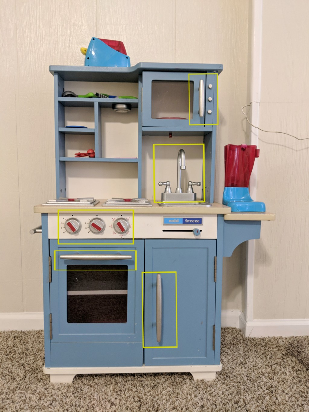 Modern Play Kitchen Makeover Upcycling Kids Toys