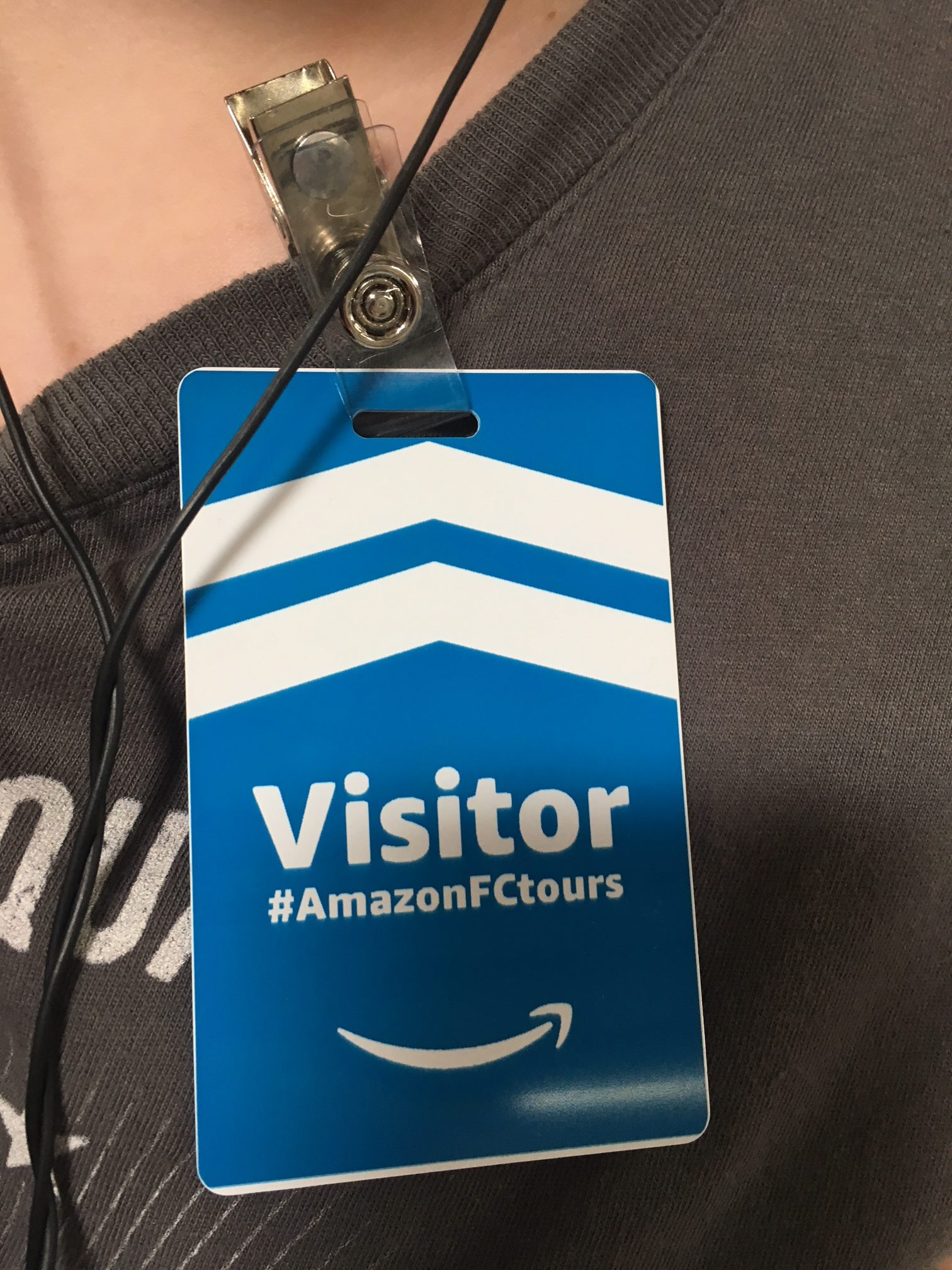 Visitor Tag at #CHA1 Amazon Tour